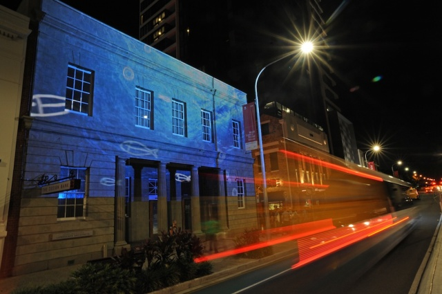 Projection mapping created by Indigenous creative agency Gilimbaa,