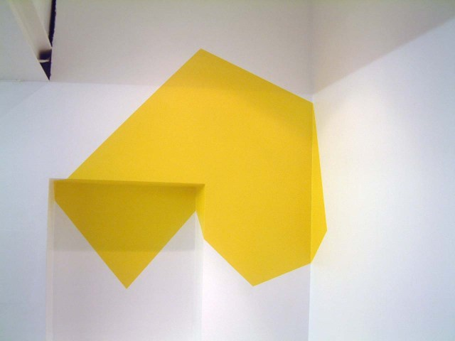 'I.E.B (construction) #107' 2005, acrylic wall painting, 80 x 110cm
