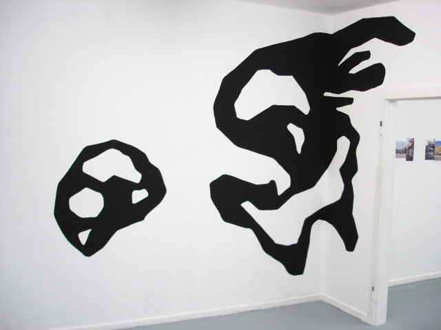Kyle Jenkins, Wall Painting (It's Not For You) #31, 2010. Acrylic wall painting.