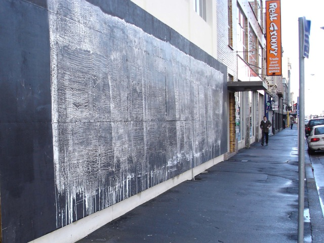 Kyle Jenkins, Wall Painting (Come to the City) #4, 2009. Acrylic on wall painting. Image courtesy of the artist.