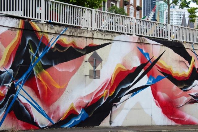 Mik Shida, Mural Creek Street Underpass, Brisbane City.