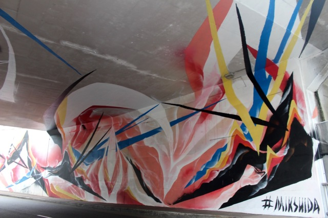 Mik Shida, Mural Creek Street Underpass, Brisbane City. Image: Engage Arts
