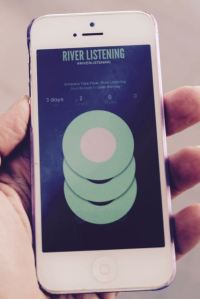 Leah Barclay, River Listening app screen.