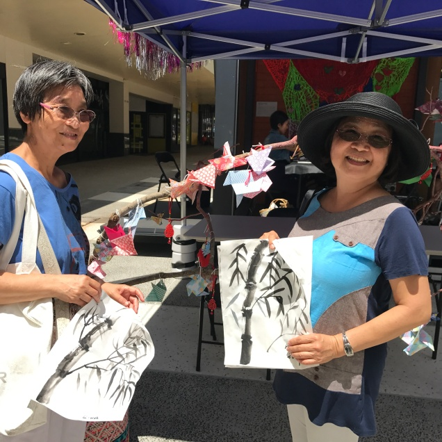 Fantastic results from Yumiko Kigoshi's ink painting workshop