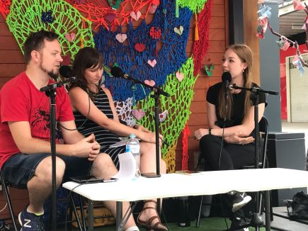 Podcast recording with Fringe Art + Culture and artist Elysha Rei