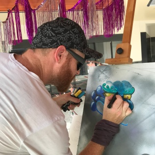 Live painting with street artist Phil B